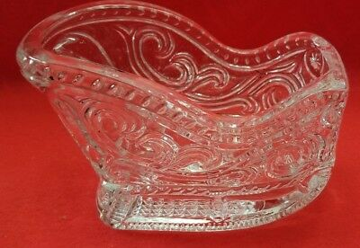 Vintage Sleigh Heavy Chrystal Glass Compote, Nut, Candy Dish