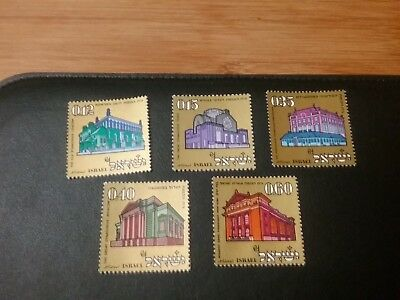 Israel Stamps Scott #425-429 Historic Synagogues