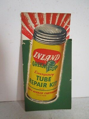 Vintage Advertising  Inland Green Top Tube Patch Kit Brochure / Ink Blotter