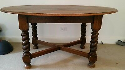 Vintage dining table and 4 chairs barley twist legs