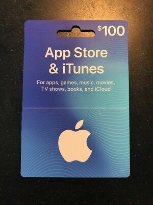 Apple $100.00 App Store & iTunes Gift Card - NO EMAIL