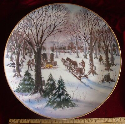 Land of the Free Plate SUGAR MAPLE TIME March Collectors Studio, 1982
