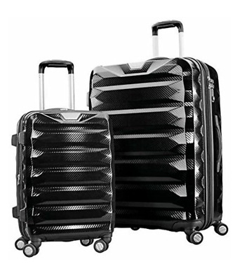 "NEW1 Samsonite Flylite DLX 2 Piece Spinner Set Luggage 28"" & 20"" Black N/B"