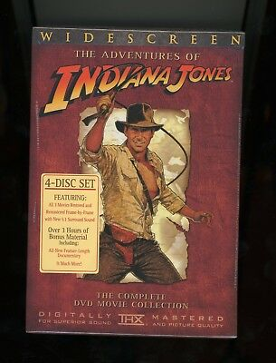 The Adventures Of Indiana Jones The Complete Dvd Movie Collection New Sealed