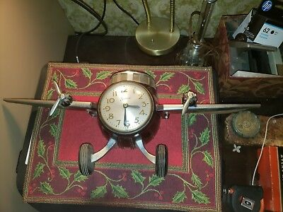 Vintage Sessions Mastercrafters Airplane Clock Bakelite Sold For Parts Or Repair