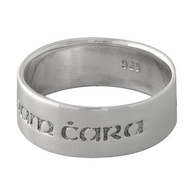 "Brand New 925 Sterling Silver Anam Cara Celtic ""Soul Friend"" Band Ring - size 9"