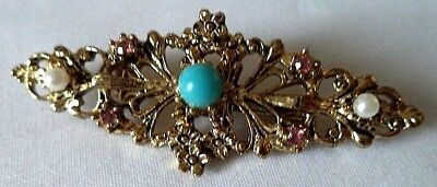 "Stunning Vintage Estate Signed Gerry's Rhinestone Flower 2"" Brooch!!! 5268T"
