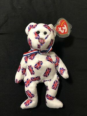 Ty Beanie Baby Jack black nose Retired (Bear UK Country Exclusive 2003)
