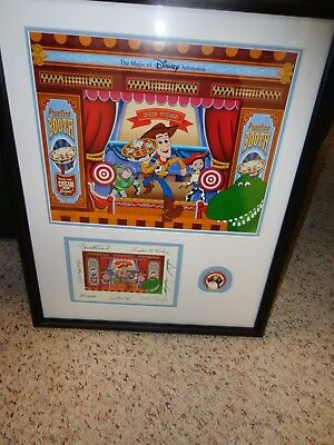 Disney Hollywood Studios Toy Story Mania Cel Framed with Signed Card and Pin