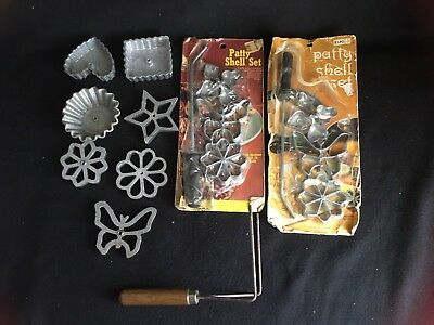 Vintage Rosette & Timbale Iron Lot of