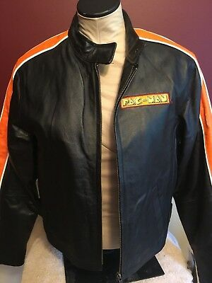 Pac Man Leather Jacket by Burk's Bay; Adult Small (Child XL)