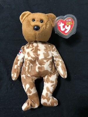 Ty Beanie Baby HERO - the Military Bear (UK Country Exclusive 2003) Retired