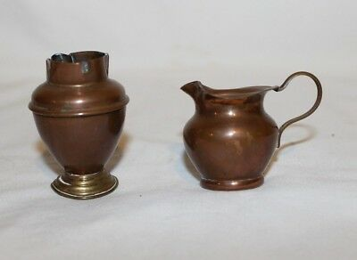 Vintage Miniature Brass Dollhouse Water Pitcher Jug and Vase Made in Italy