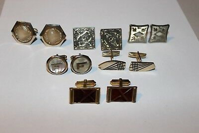 Lot Of A Six Pair Of Vintage Cufflinks