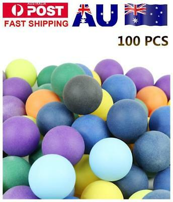 100Pcs/set Colored Ping Pong Balls Entertainment Table Tennis Ball MultiColor