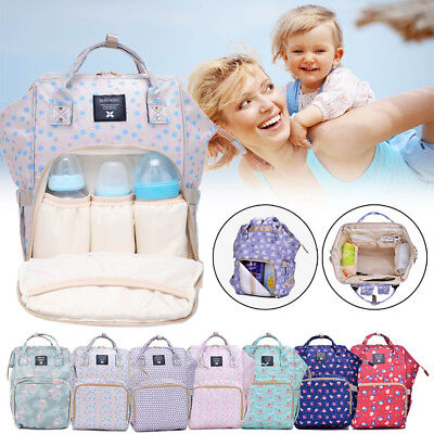 Multifunctional Large Baby Diaper Backpack Changing Waterproof Mummy Nappy Bag