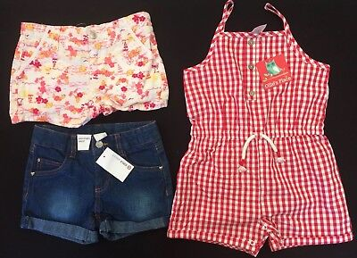 NWT Girls Summer Lot - Size 5 - Playsuit & Shorts - Milkshake, Ollie's Place