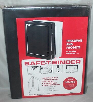 Vue-All Archival Safe-T-Binder w/ Rings Black STB-200