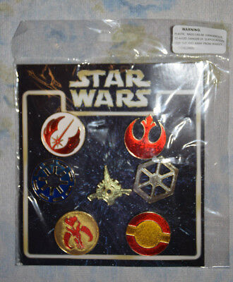 STAR WARS Symbols Booster pack Disney 7 pin lot NEW Jedi Mandalorian