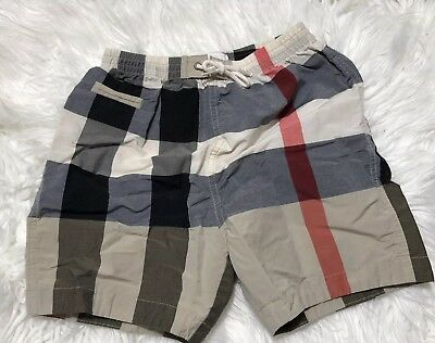 Burberry baby boy Beige Classic Check Shorts Swim Trunk Size 18m Excellent
