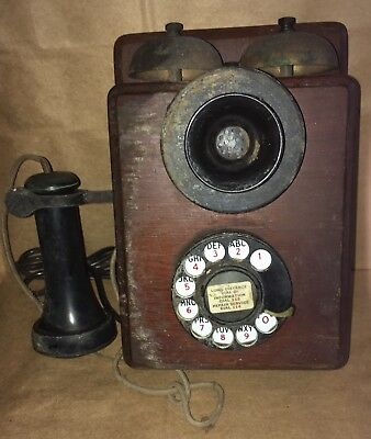 GPO ROTARY TELEPHONE WALL BELL SET # 41 FHR 59/1 Fixer Upper See Pics TLC Needed