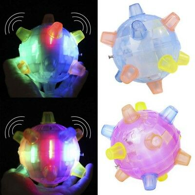Jumping Joggle LED Light Up Bouncing Vibrating Sound Sensitive Ball Toys For Kid