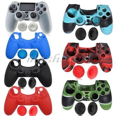 Soft Silicone Rubber Grip Case Skin Cover For Sony Playstation 4 PS4 Controller