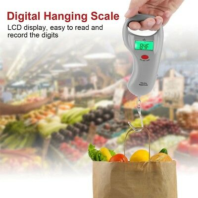Portable LCD Digital for Travel Luggage Scale Hook Hanging Weight 110lb/50kg