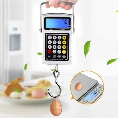 50Kg/10g Portable Electronic LCD Digital Hanging Luggage Weight Hook Scale HG