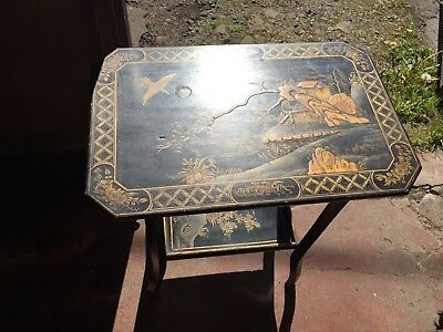 Antique Chinese Lacquered Table