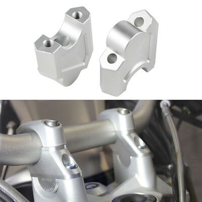 40mm Silver Handlebar Clamp Risers Mounts Adapter For Honda CRF1000L Africa Twin