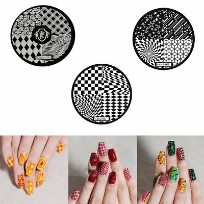 Fashion DIY Nail Art Image Stamp Stamping Plates Manicure Template 9 Styles N2