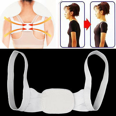 Adjustable Therapy Posture Body Shoulder Support Belt Brace Back Corrector C^^