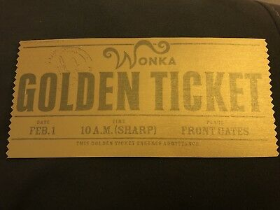 10 x Willy Wonka golden ticket Charlie And The Chocolate Factory Metallic  Paper