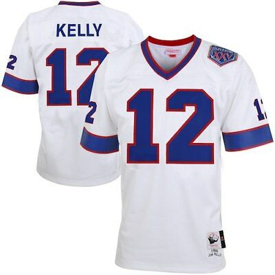 ba15c6a91 Jim Kelly Buffalo Bills Mitchell   Ness Super Bowl XXV Patch Authentic  Throwback