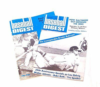 Vintage 2 Baseball Digest January May 1971 EX Mays Orioles Tickets Baltimore Ofr