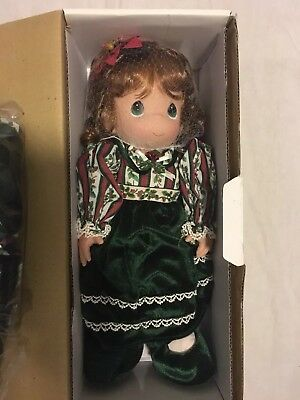 "Precious Moments Belle 12th Edition 15"" Christmas Doll Stocking Series #1155 MIB"