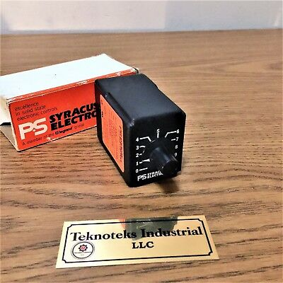 Ps Syracuse Electronics Tnr/d-00308 115Vac/dc Timer(New)