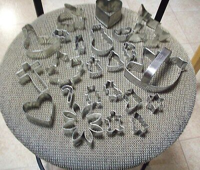 Lot of 23 Metal Cookie Cutters Assorted Sizes & Shapes