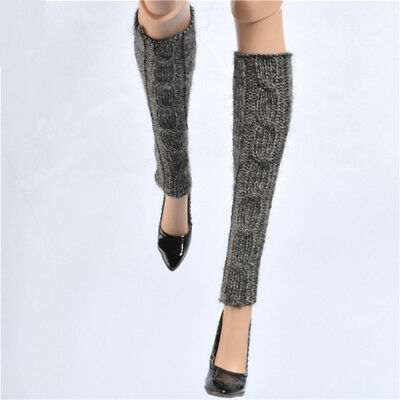 "Gray Knit Leg Warmers Cuffs Socks for 16"" NUMINA Sybarite Tyler Ficon JamieShow"