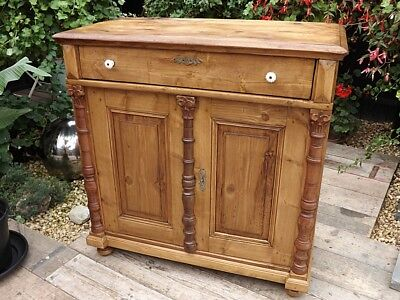 VERY OLD 19thC ANTIQUE PINE DRESSER BASE/SIDEBOARD/CUPBOARD/CABINET. WE DELIVER!
