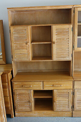 Ranch Oak Buffet with  bookcase