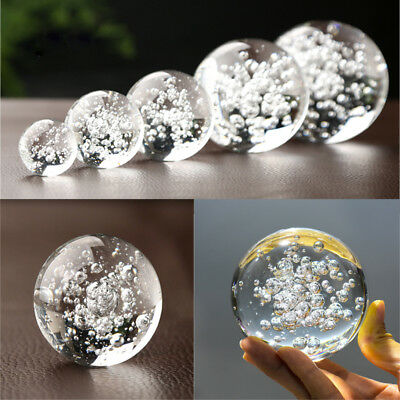 Bubble Glass Crystal Ball Healing Sphere Photography Props Lensball Decor Gift