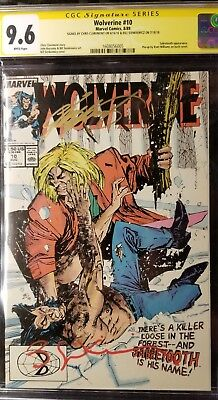 Wolverine #10 (1989 Marvel) Signed Chris Claremont & Bill Sienkiewicz CGC 9.6