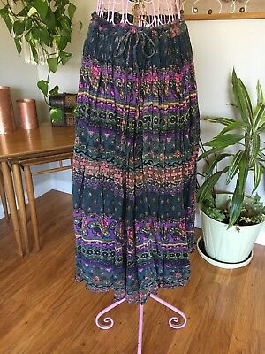 Vintage Hippie One Size Fits All Draw Sting Maxi Skirt