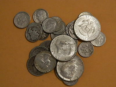 $5 Face Value - 90% Silver U.S. Coin Lot - Half Dollars, Quarters, Dimes