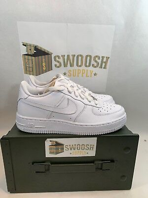 Nike Air Force 1 GS Kids Youth Uptown Classic Leather Low White Shoes 314192-117