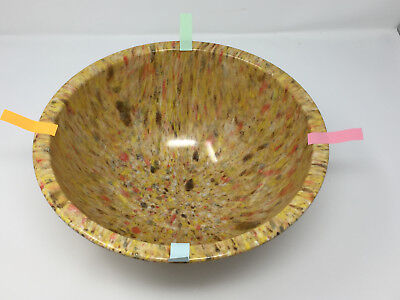 Texas Ware 125 Confetti Splatter Speckled Mixing Bowl 1970s Candy Corn Color Vtg