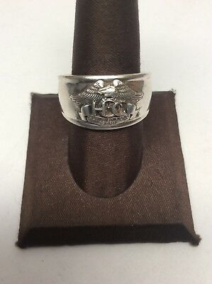 Harley Davidson Sterling Silver Harley Owners Group Ring Size 11