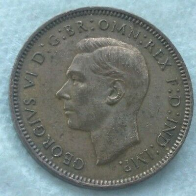 1942 Great Britain 1 Farthing Coin -